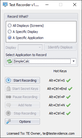 Recorder application